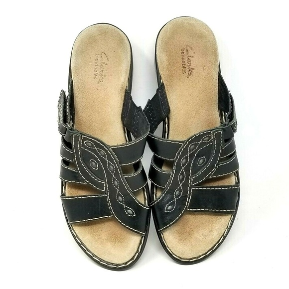 Clarks bendables womens slide on sandals size 9.5